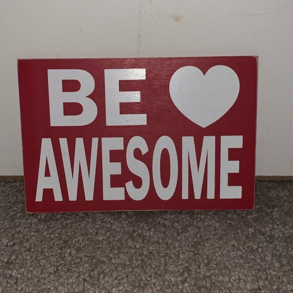 awesome sign decor studio decor wall art be awesome sign poshmark  studio decor wall art be awesome sign